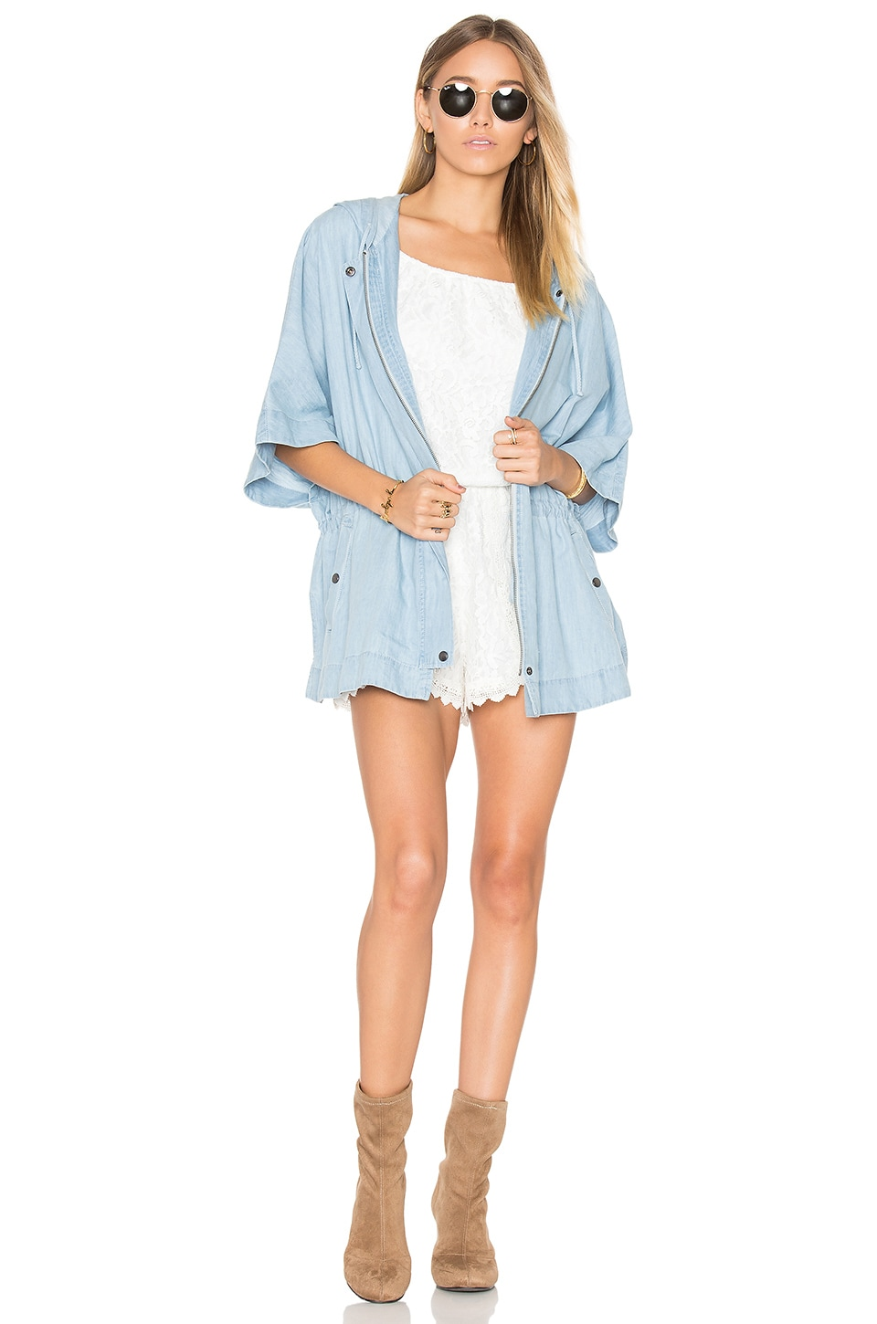 BB Dakota Jack by BB Dakota Adobo Parka in Washed Out Chambray