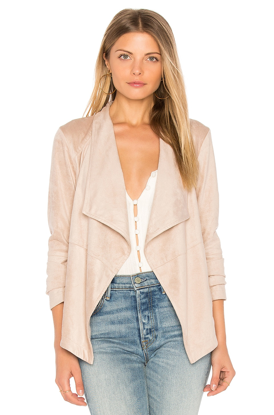 Bb Dakota Wade Faux Suede Jacket In Parchment Modesens