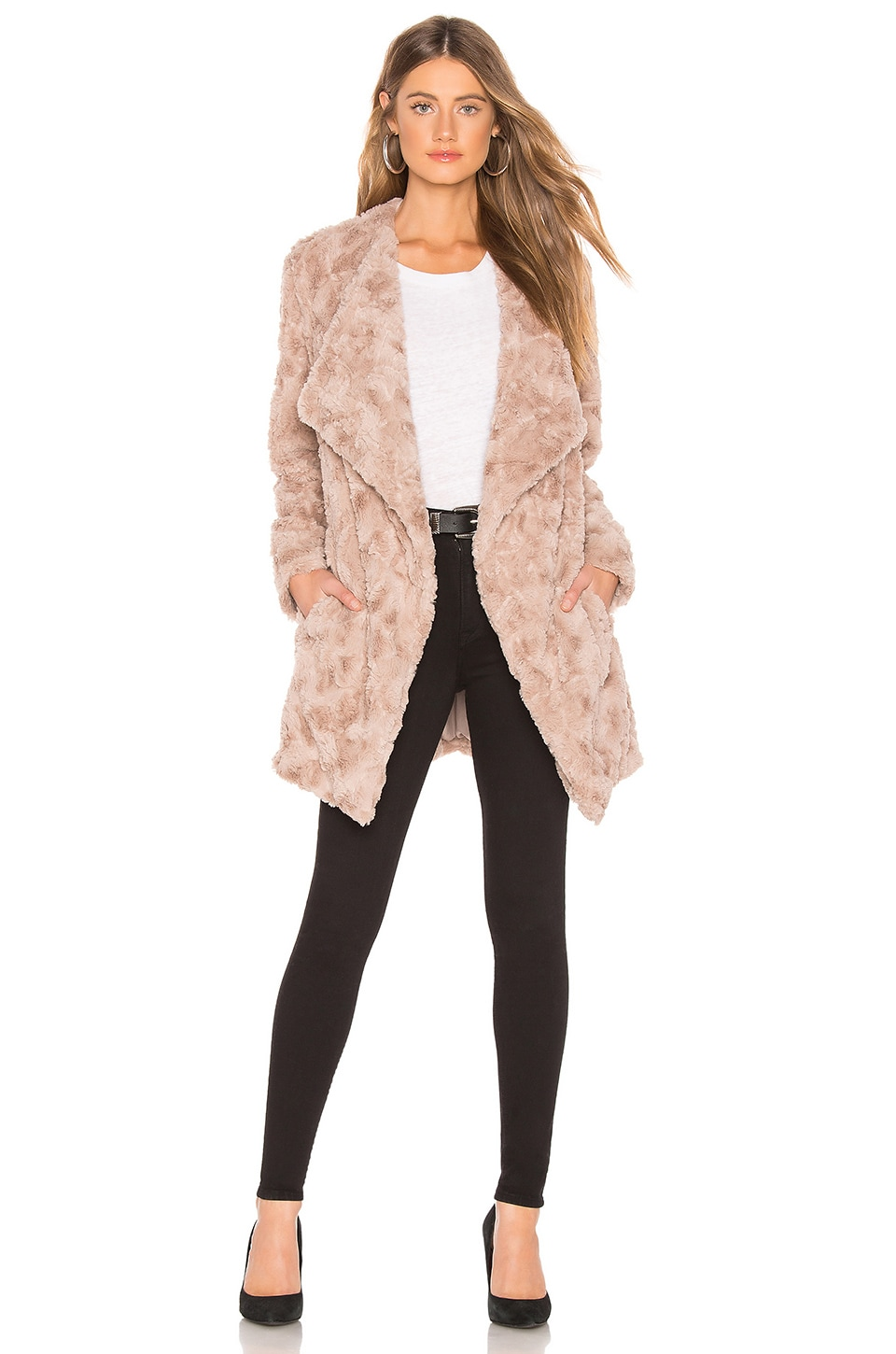 Bb Dakota BB DAKOTA TUCKER FAUX FUR JACKET IN TAN