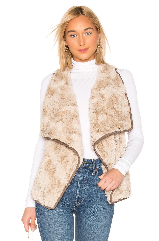 BB Dakota JACK by BB Dakota Most Valuable Layer Faux Fur Vest in Oatmeal