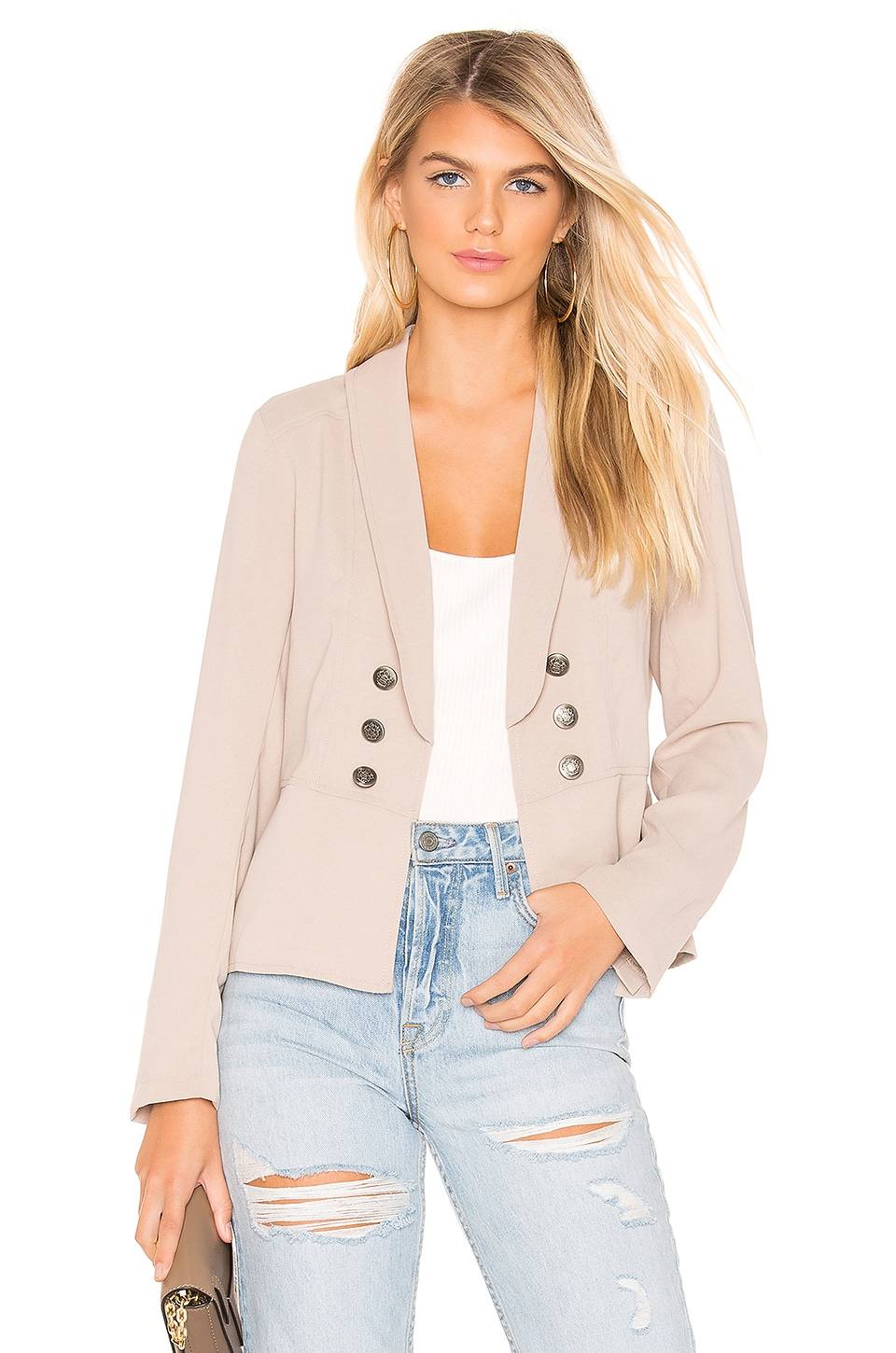 BB Dakota JACK by BB Dakota Take The Reins Blazer in Medium Khaki