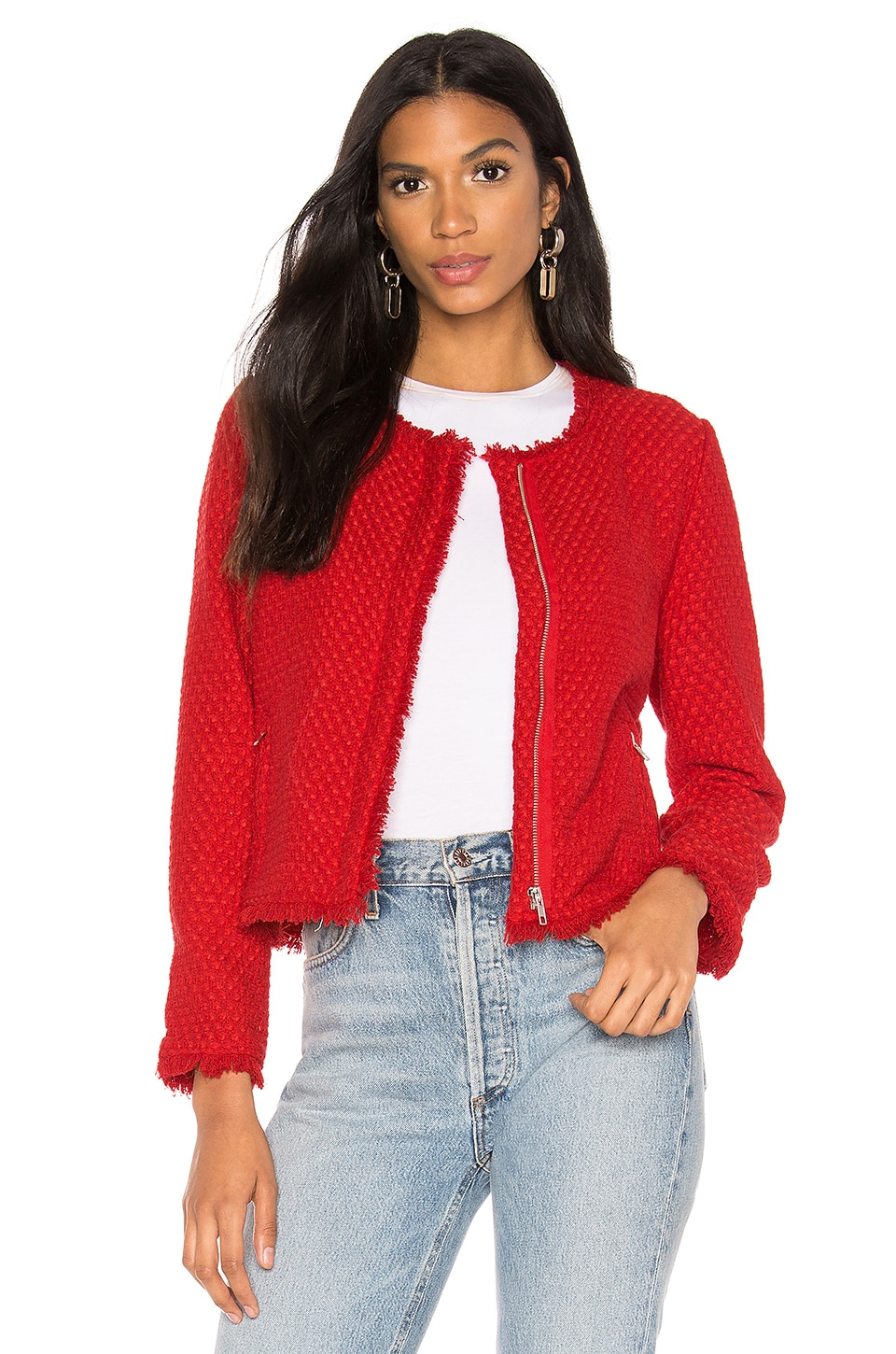 BB Dakota Feeling Fancy Jacket in Berry Red