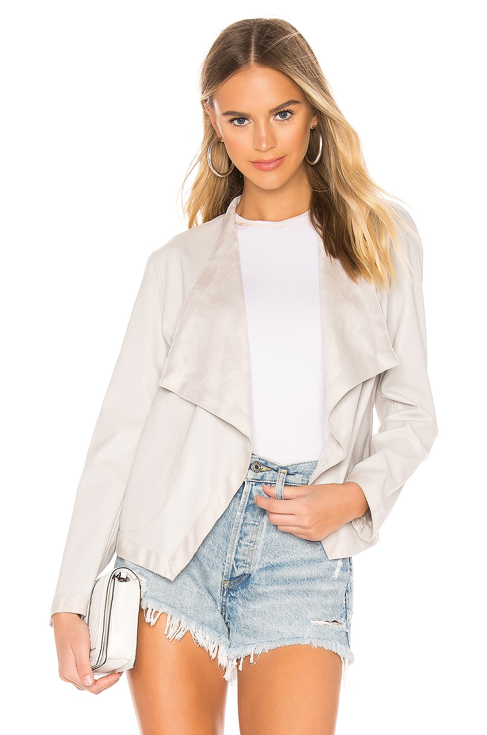 Bb Dakota Jackets BB DAKOTA TEAGAN FAUX LEATHER JACKET IN GRAY.