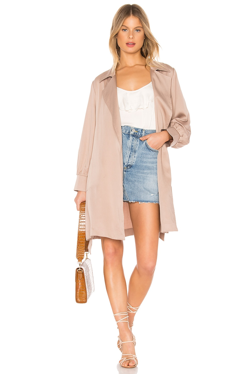 BB Dakota Trench Kiss Coat in Birch