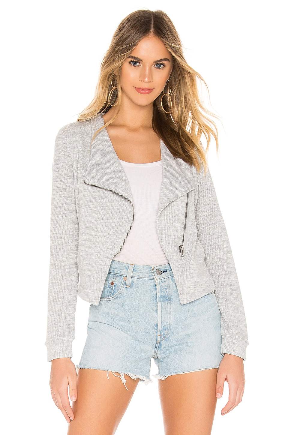 BB Dakota Knits Electric Jacket in Light Heather Grey