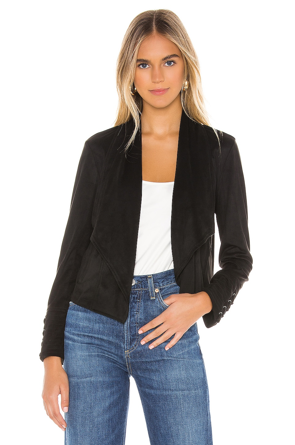 BB Dakota JACK by BB Dakota Flip The Stitch Faux Suede Jacket in Black