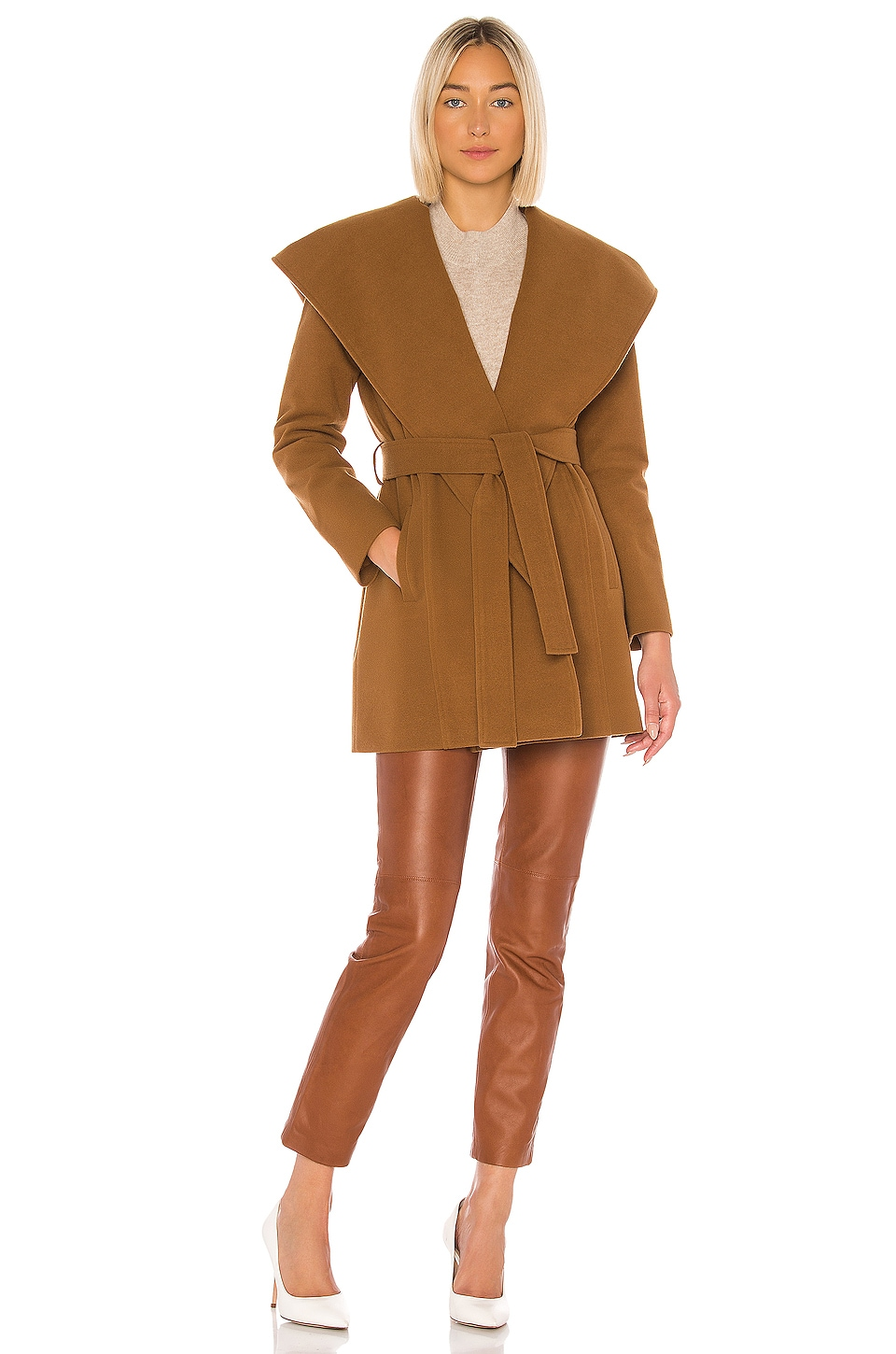 BB Dakota JACK by BB Dakota Take Cover Coat in Camel