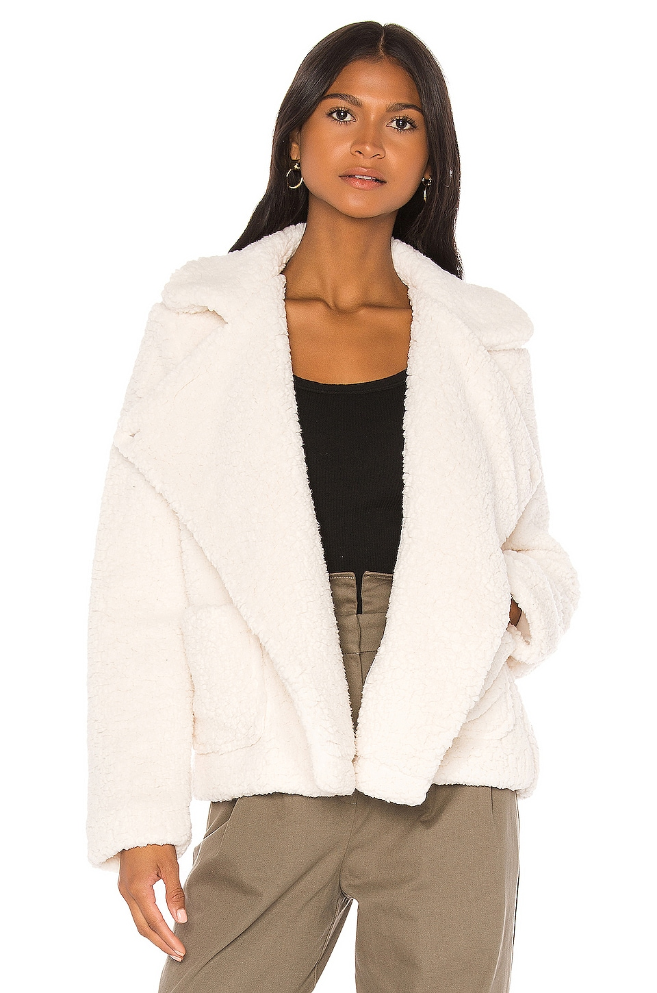 BB Dakota Soft Skills Teddy Jacket in Ivory