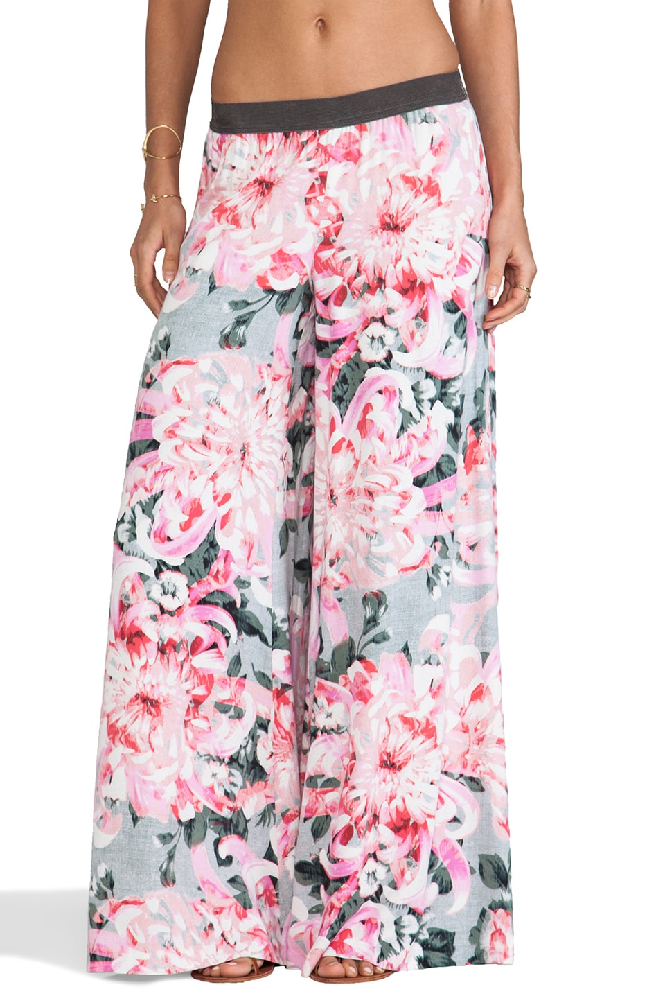 BB Dakota Sundra Wide Leg Floral Pant in Pink