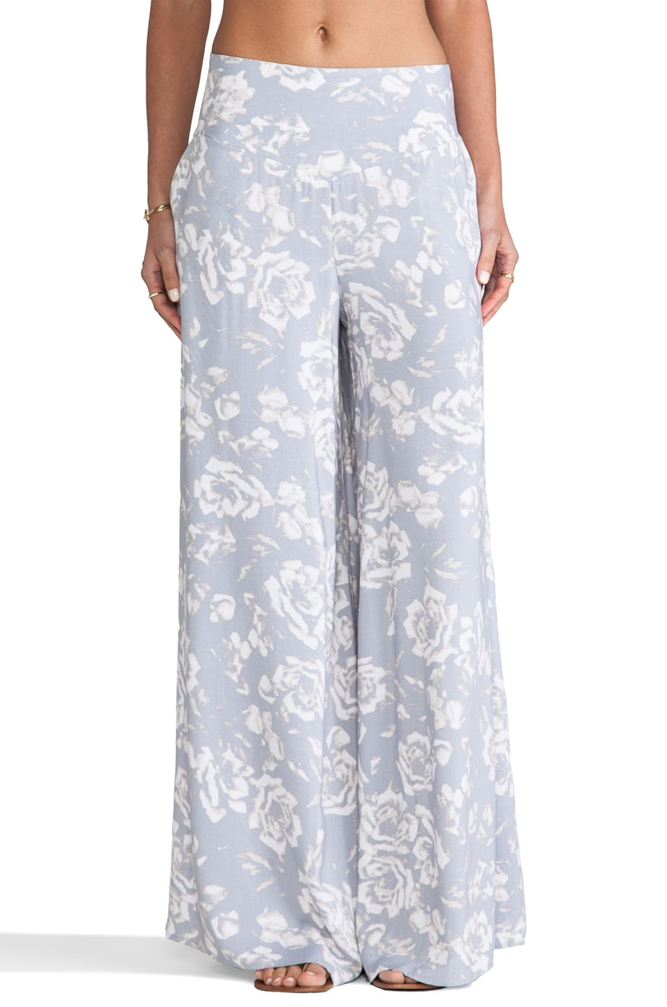 BB Dakota Alonda Rose Printed Pants in Storm Grey