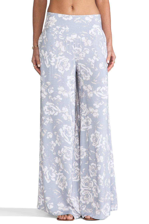 BB Dakota Alonda Rose Printed Pants in Storm Grey