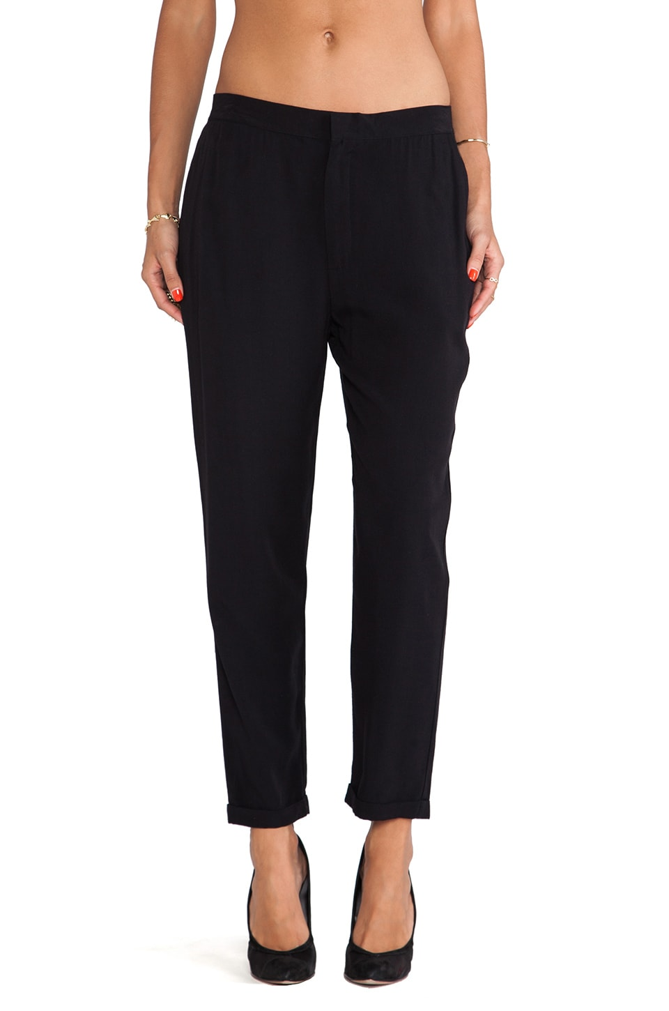 BB Dakota Farber Challis Pant in Black