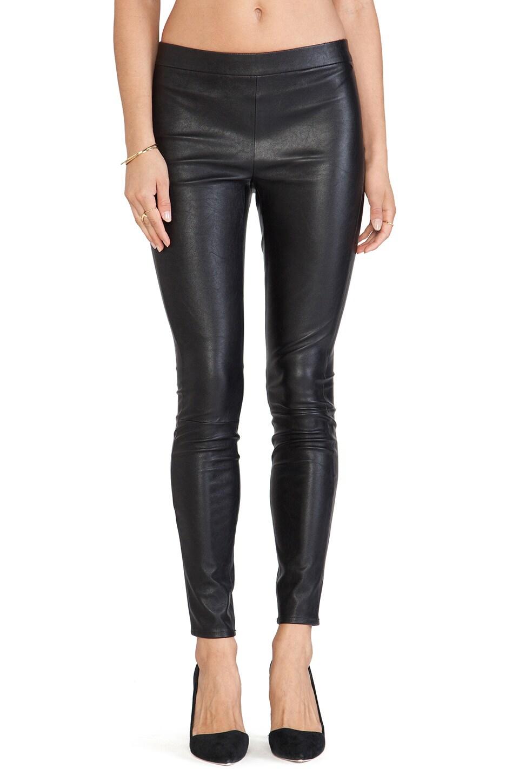 BB Dakota Tansy Faux Leather Legging in Black