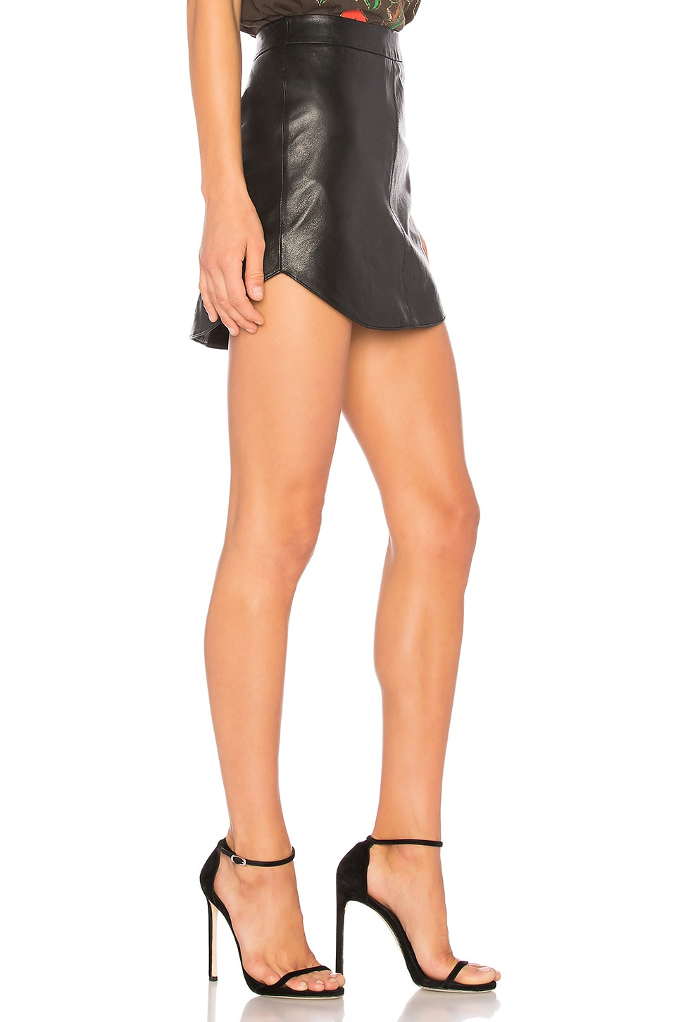 Conrad Leather Skirt, view 2, click to view large image.