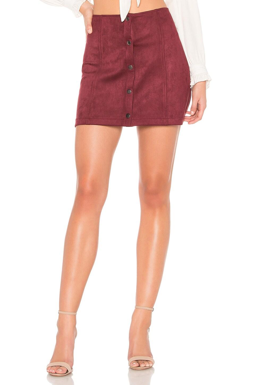 BB Dakota JACK by BB Dakota Cant Buy Me Love Skirt in Cranberry