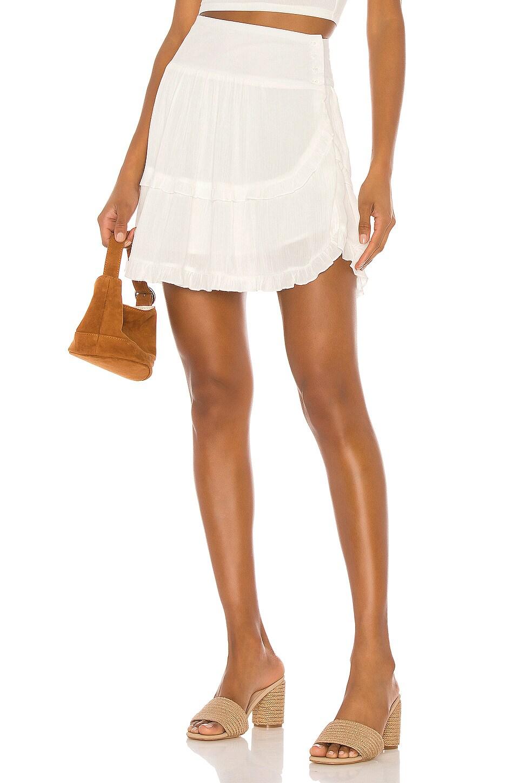 BB Dakota JACK by BB Dakota Crinkle In Time Skirt in Off White