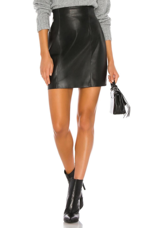 BB Dakota Girl Crush Vegan Leather Skirt in Black