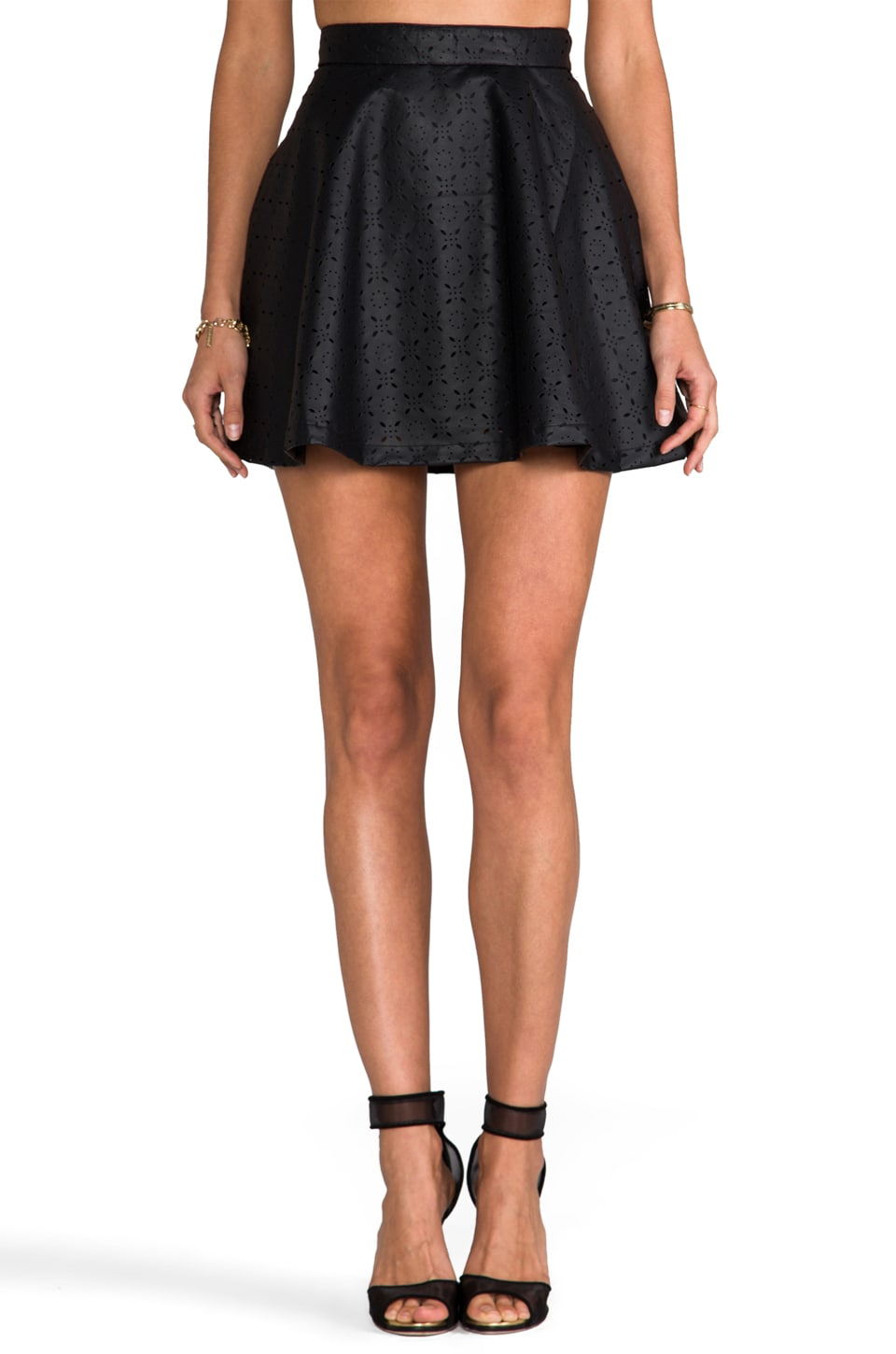 BB Dakota Jovianne Faux Leather Mini Skirt in Black