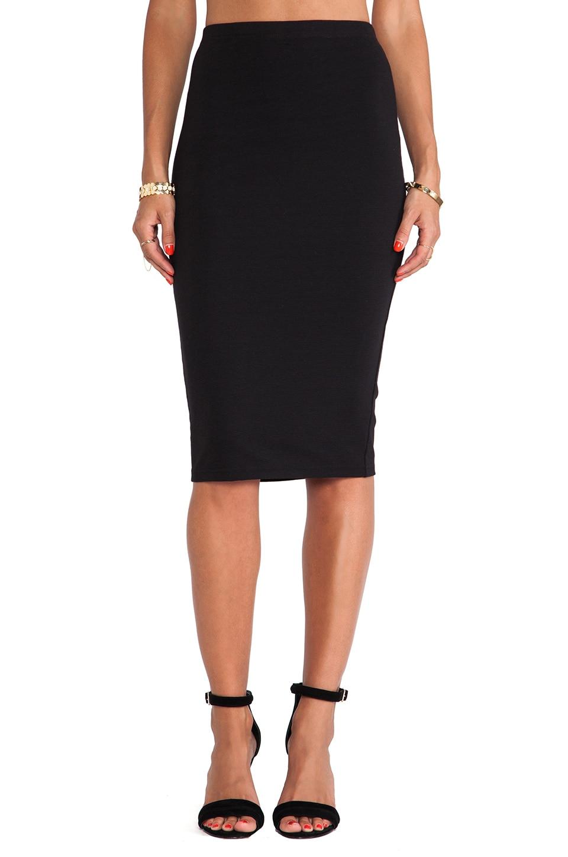 BB Dakota South Ponte Pencil Skirt in Black