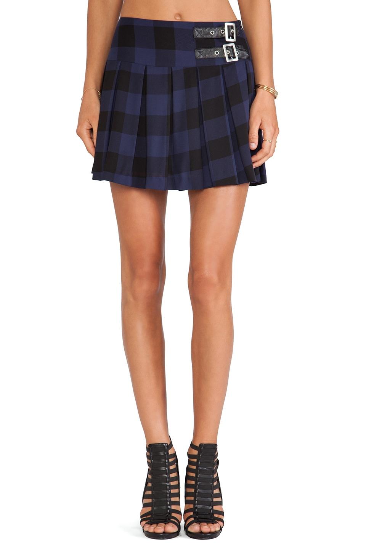 BB Dakota Corvin Plaid Mini Skirt in Ink