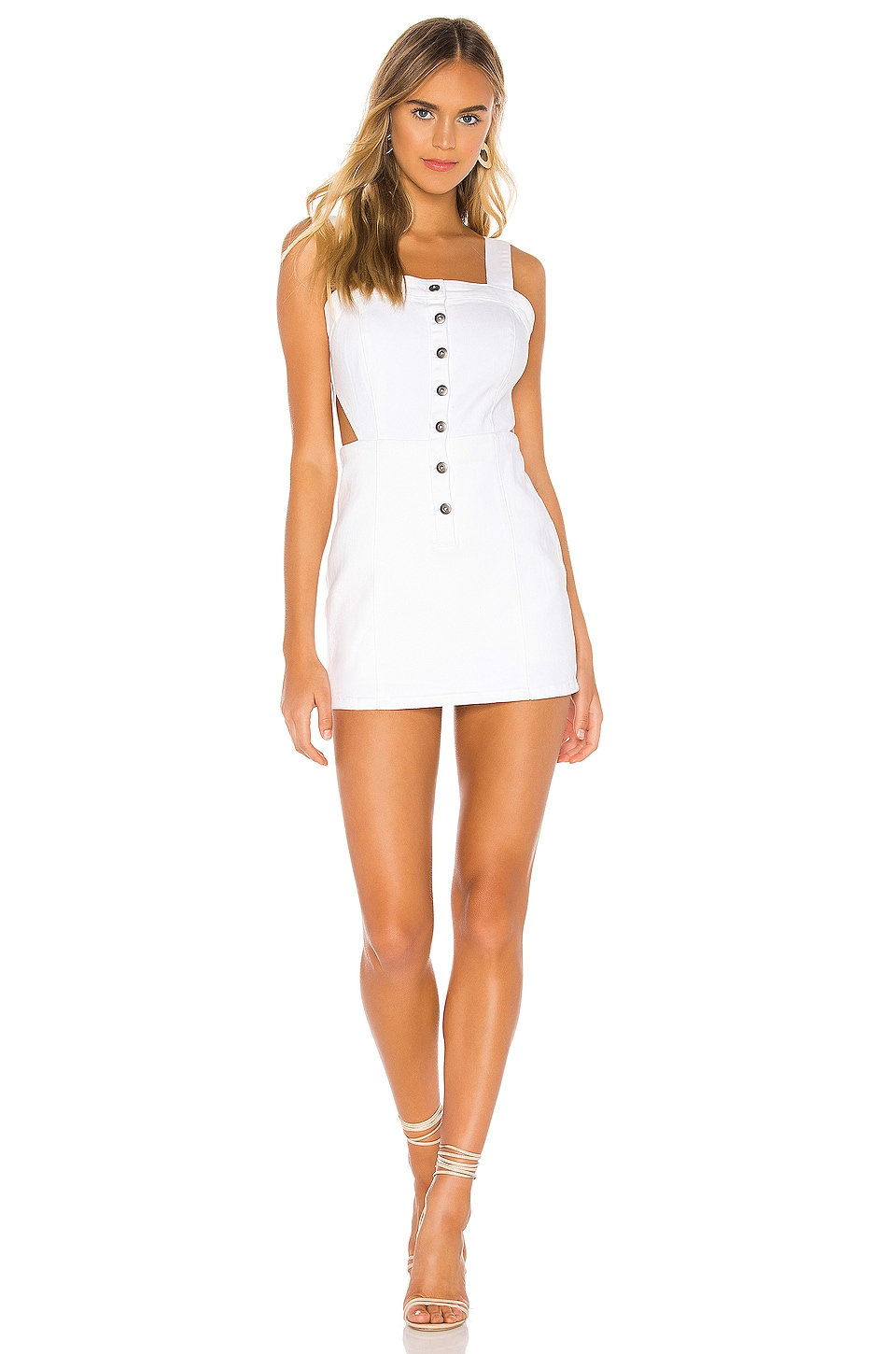 BB Dakota Jack by BB Dakota Little Sumptin Romper in Bright White