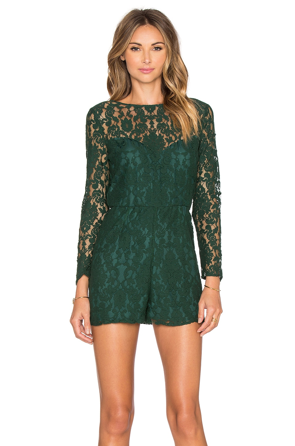 BB Dakota Dasha Romper in Hunter