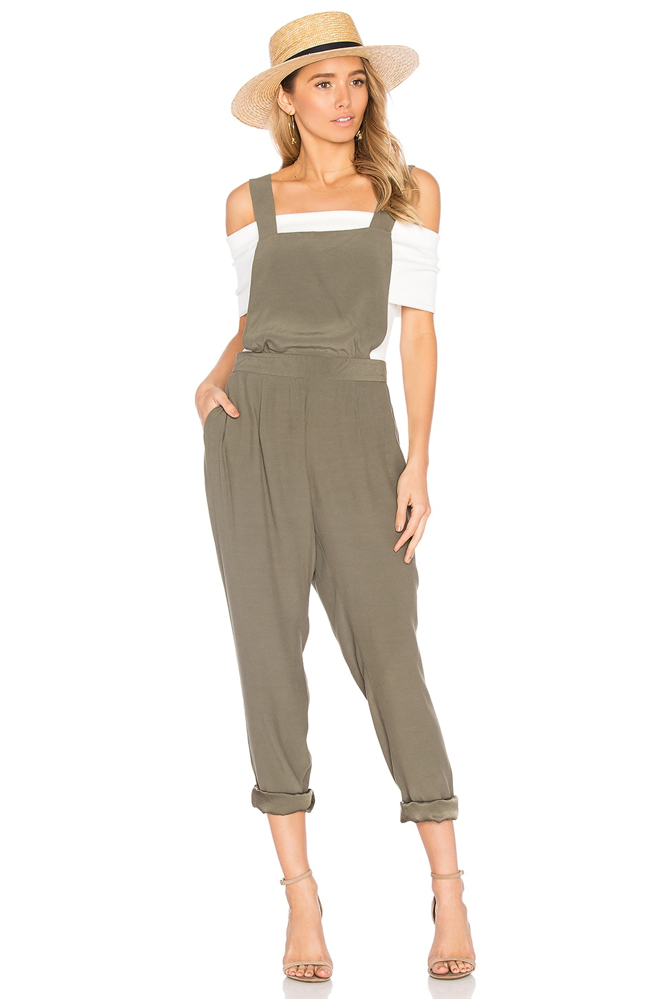 BB Dakota Kelly Overalls in Sage