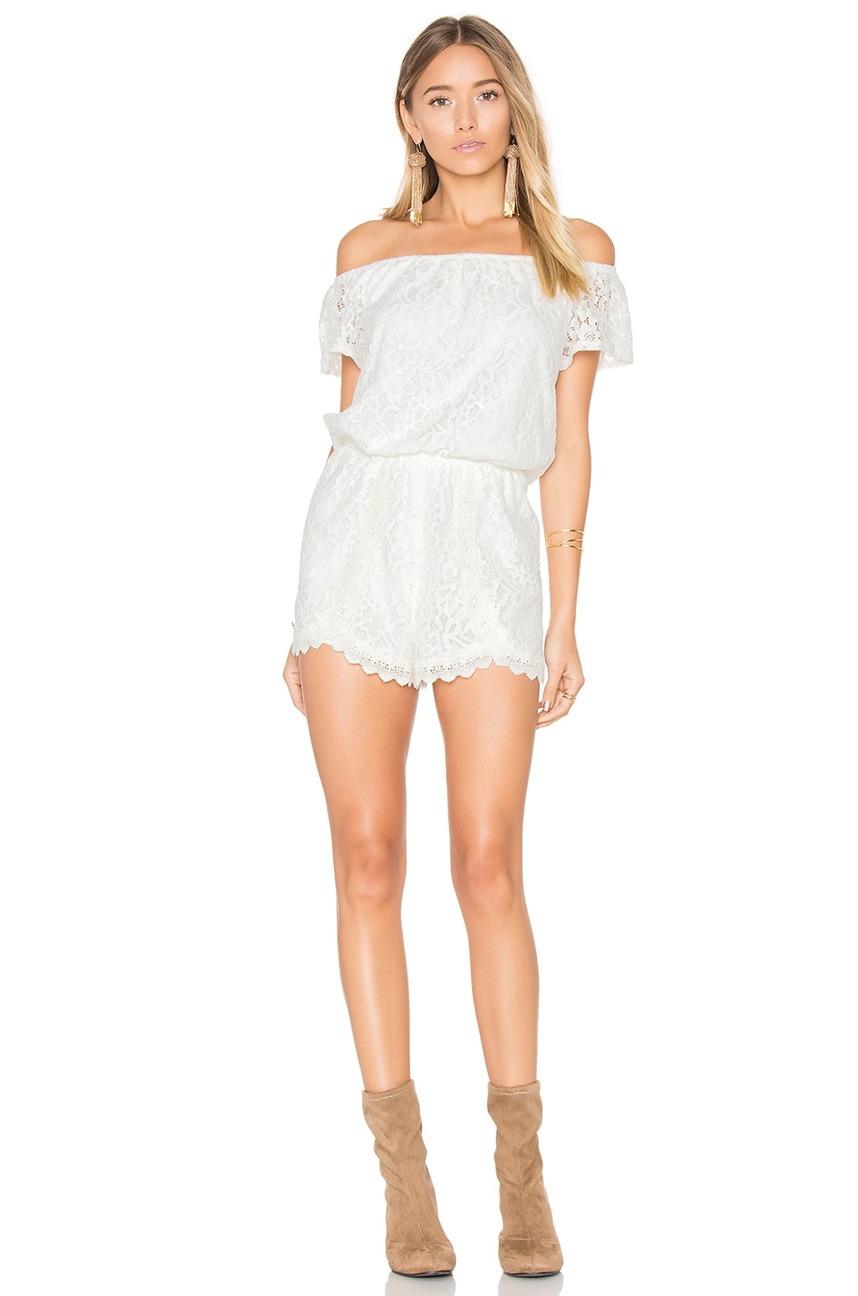 BB Dakota Jack by BB Dakota Liam Romper in Ivory