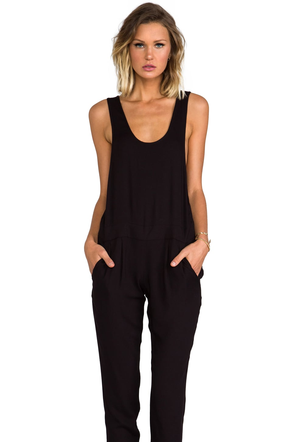 BB Dakota Camry Woven Jumpsuit in Black