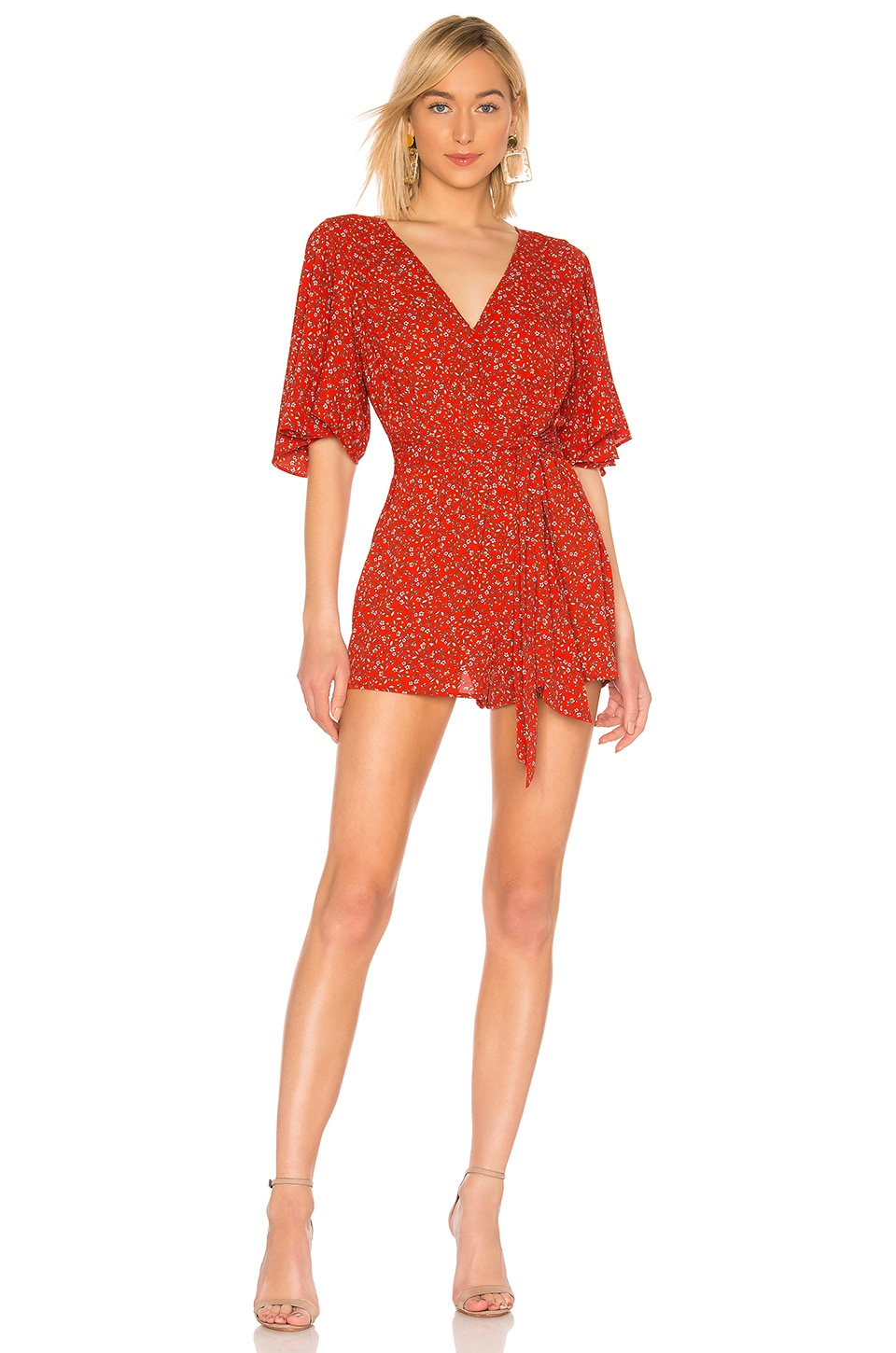 BB Dakota JACK by BB Dakota Spring Breaker Romper in Poppy Red