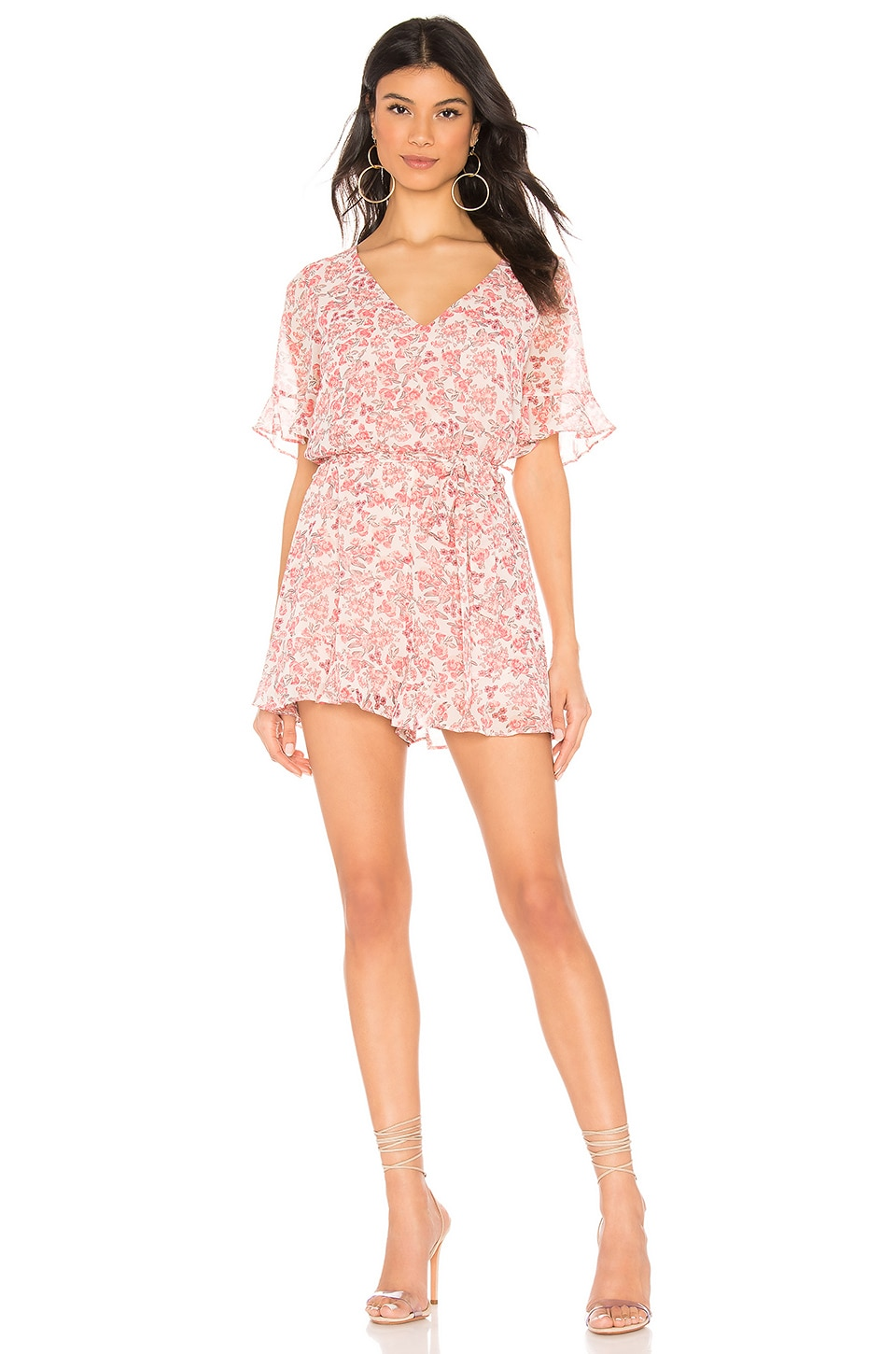 BB Dakota Picking Roses Romper in Dusty Rose