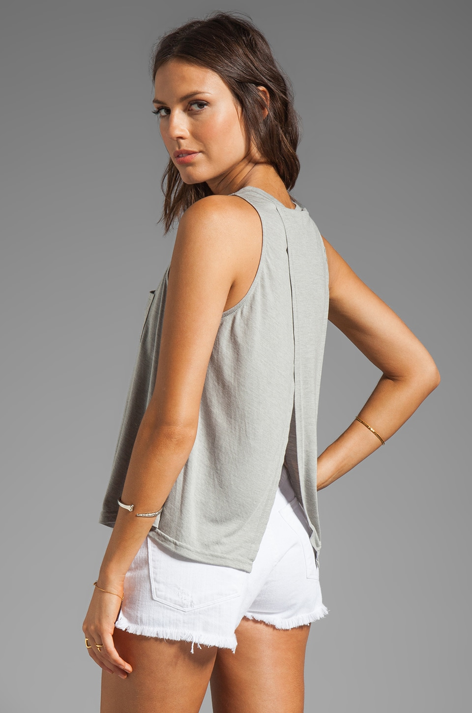 BB Dakota Massel Heather Rayon Knit Tank