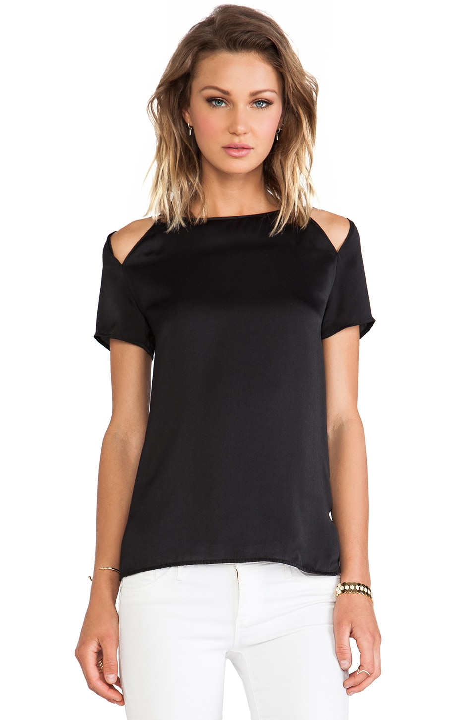 BB Dakota Selma Cut-out Top in Black