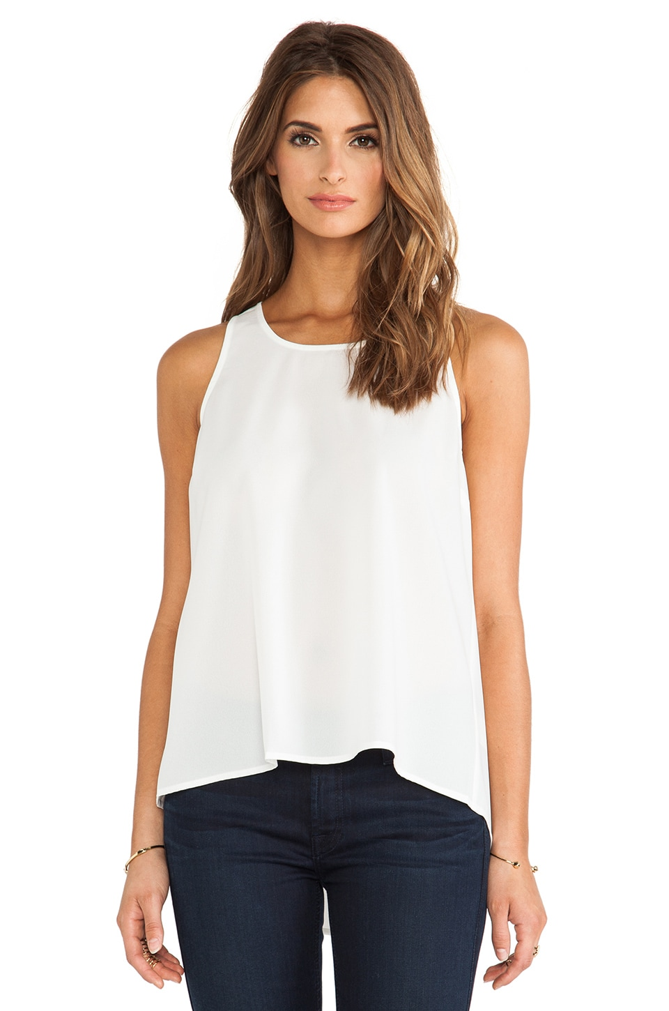 BB Dakota Barrow Pleated Tank in Linen