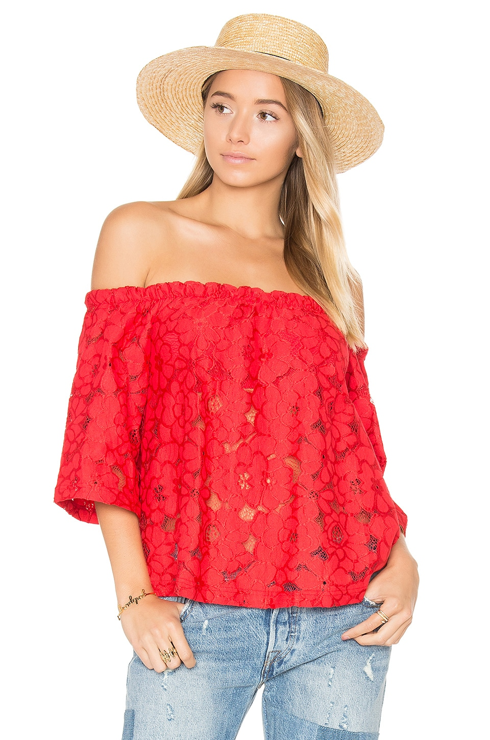 BB Dakota Jack by BB Dakota Oregano Top in Rococo Red