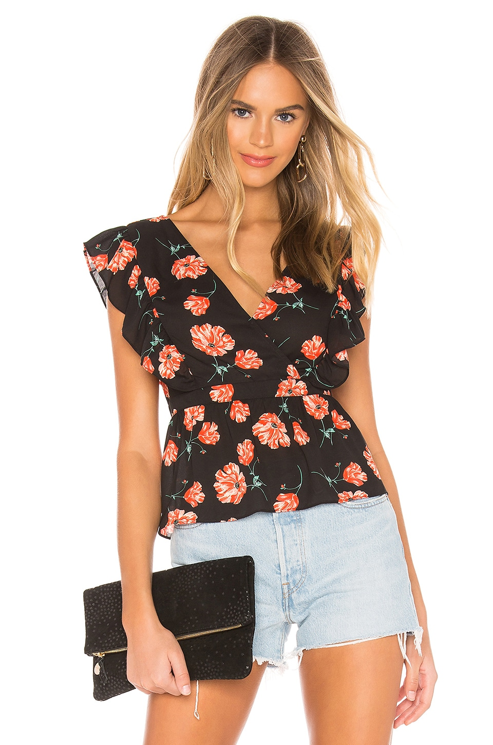 BB Dakota JACK by BB Dakota Poppy Love Top en Black