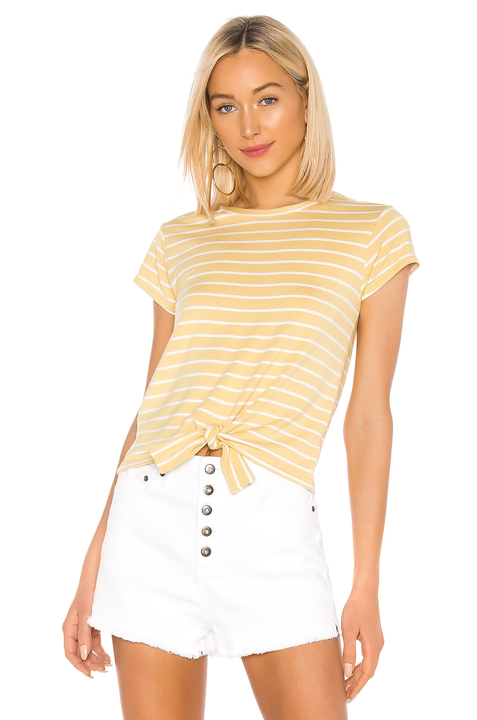 BB Dakota Stripes Ahoy Top en Citrus