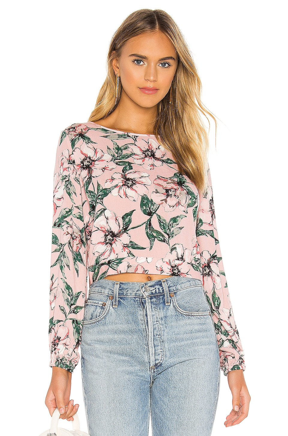 BB Dakota Jack by BB Dakota Tropic Baby Blouse in Rose Dawn
