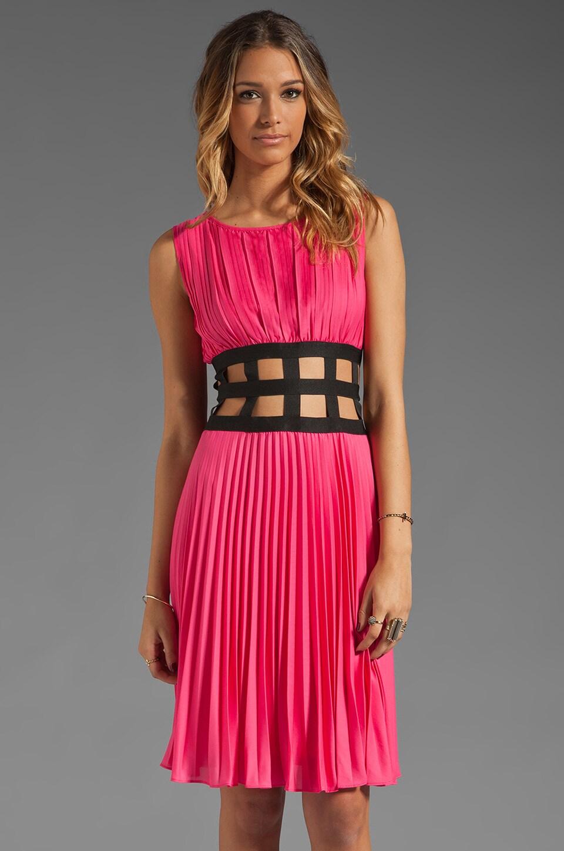BCBGMAXAZRIA Cut Out Dress in Ultra Pink