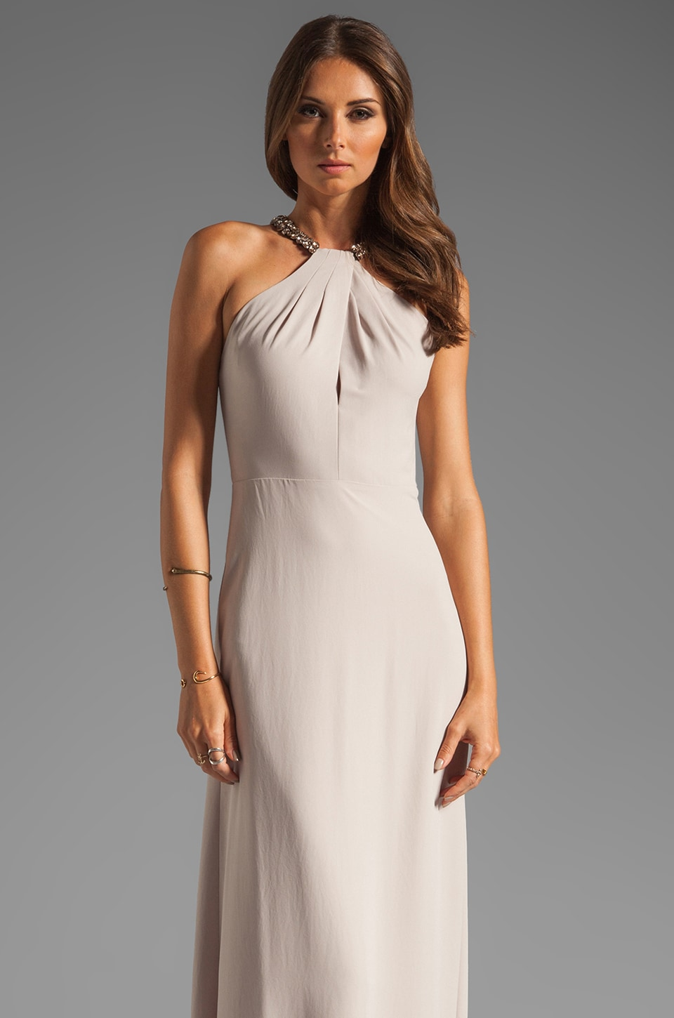 BCBGMAXAZRIA Maxi Dress in Light Stone