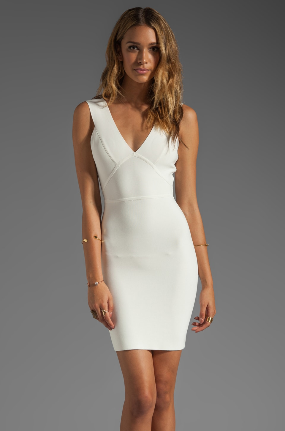 BCBGMAXAZRIA Mini Dress in Gardenia