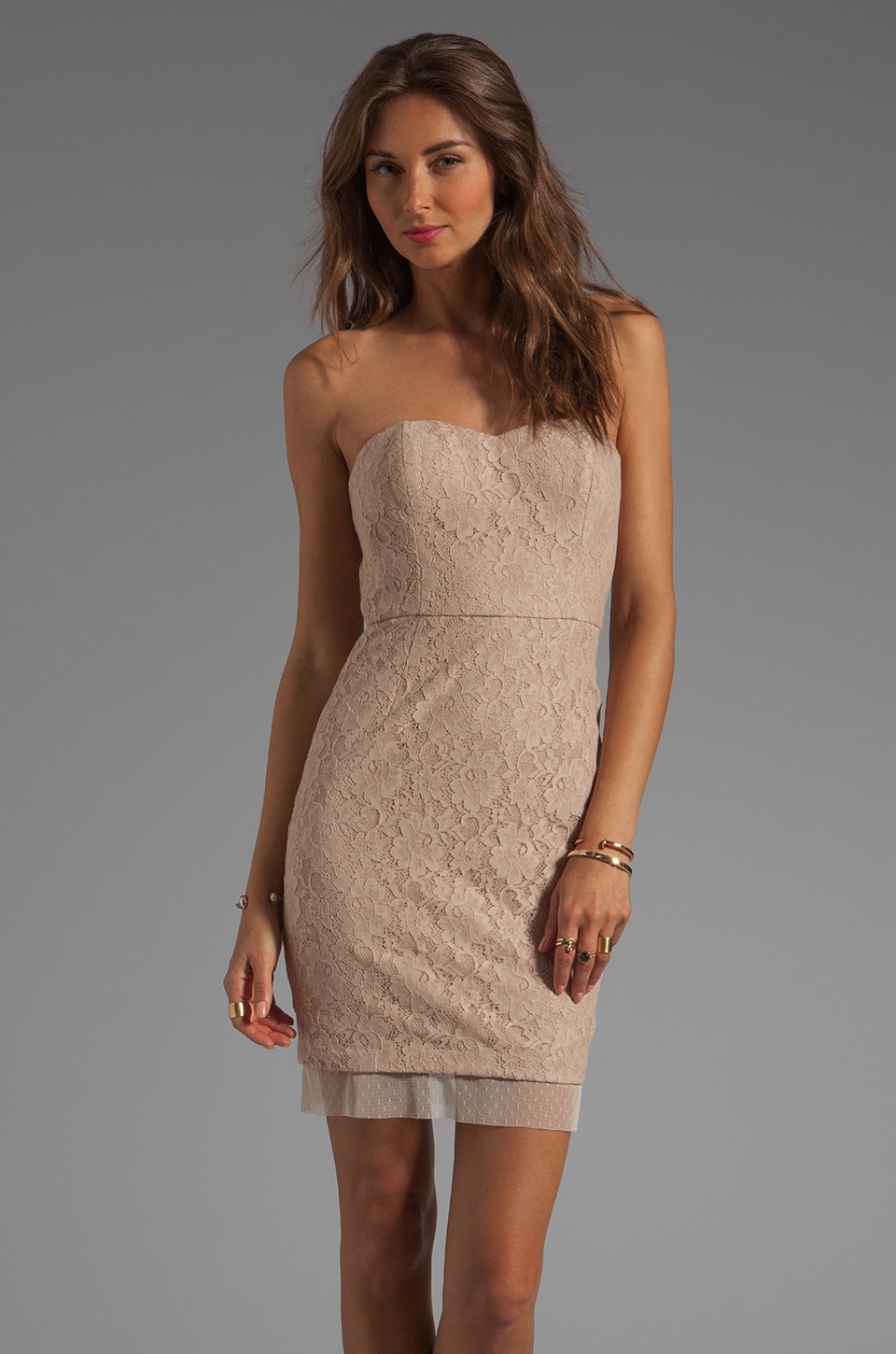 BCBGMAXAZRIA Strapless Dress in Allure