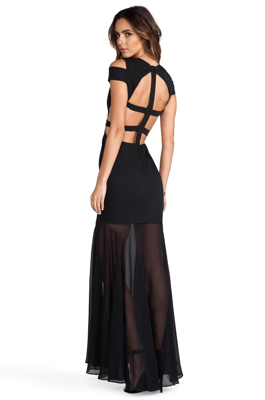 BCBGMAXAZRIA Cut-Out Maxi Dress in Black