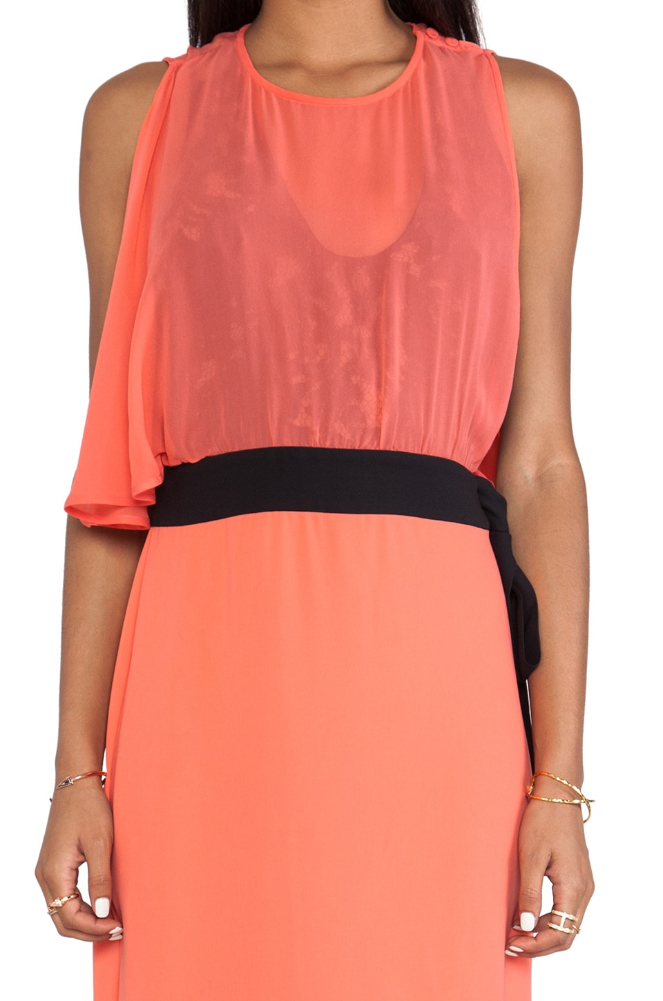 BCBGMAXAZRIA Runway Maxi Dress in Coral Reef