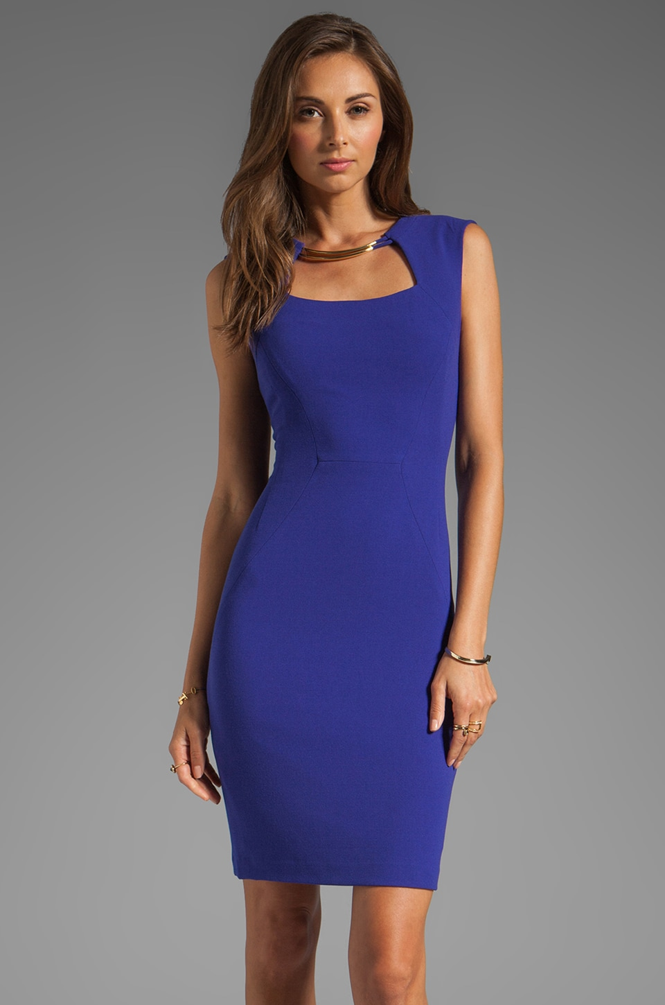 BCBGMAXAZRIA Sleeveless Dress in Dark Regal Blue
