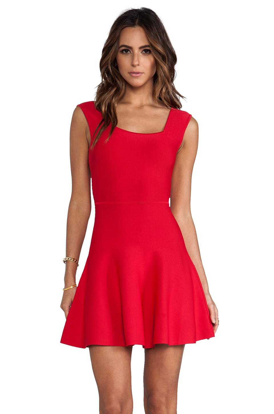 BCBGMAXAZRIA Back Cut-Out Dress in Poppy