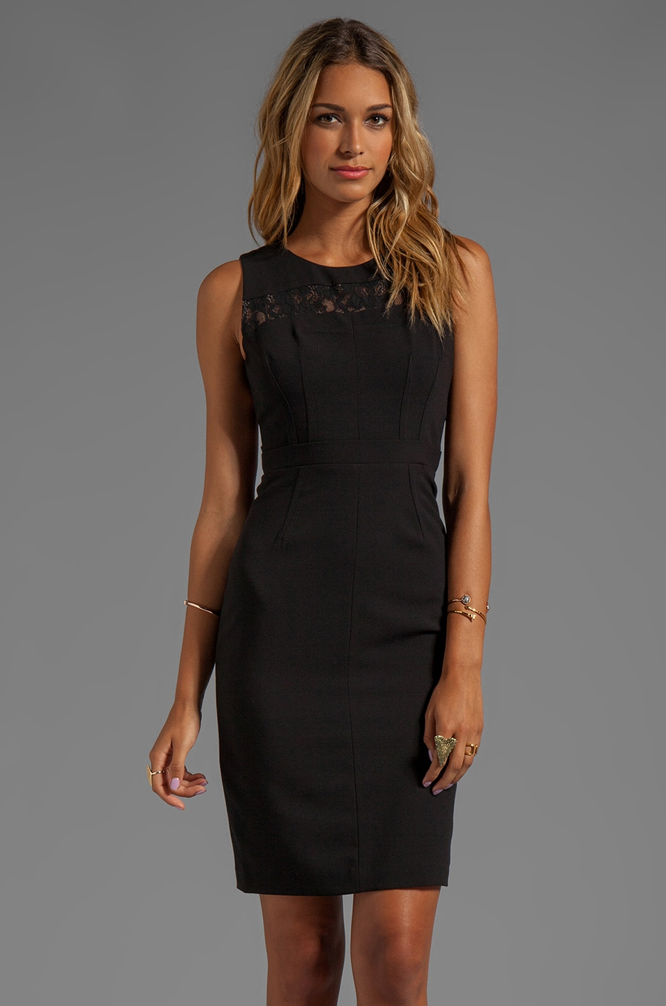 BCBGMAXAZRIA Cut-Out Dress in Black