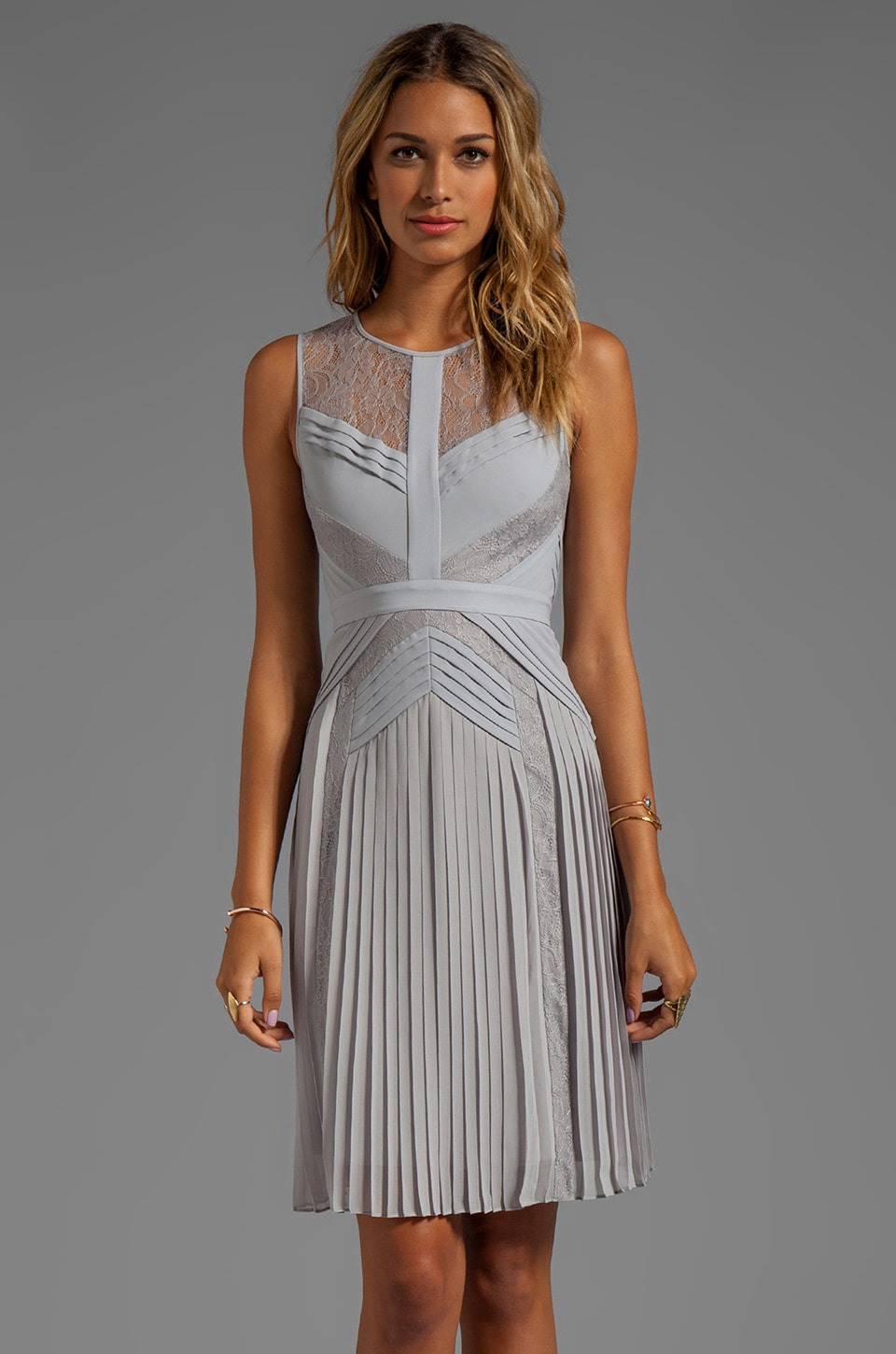 BCBGMAXAZRIA Sleeveless Dress in Glacier