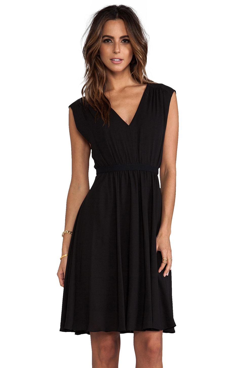 BCBGMAXAZRIA Rachel Sleeveless Dress in Black