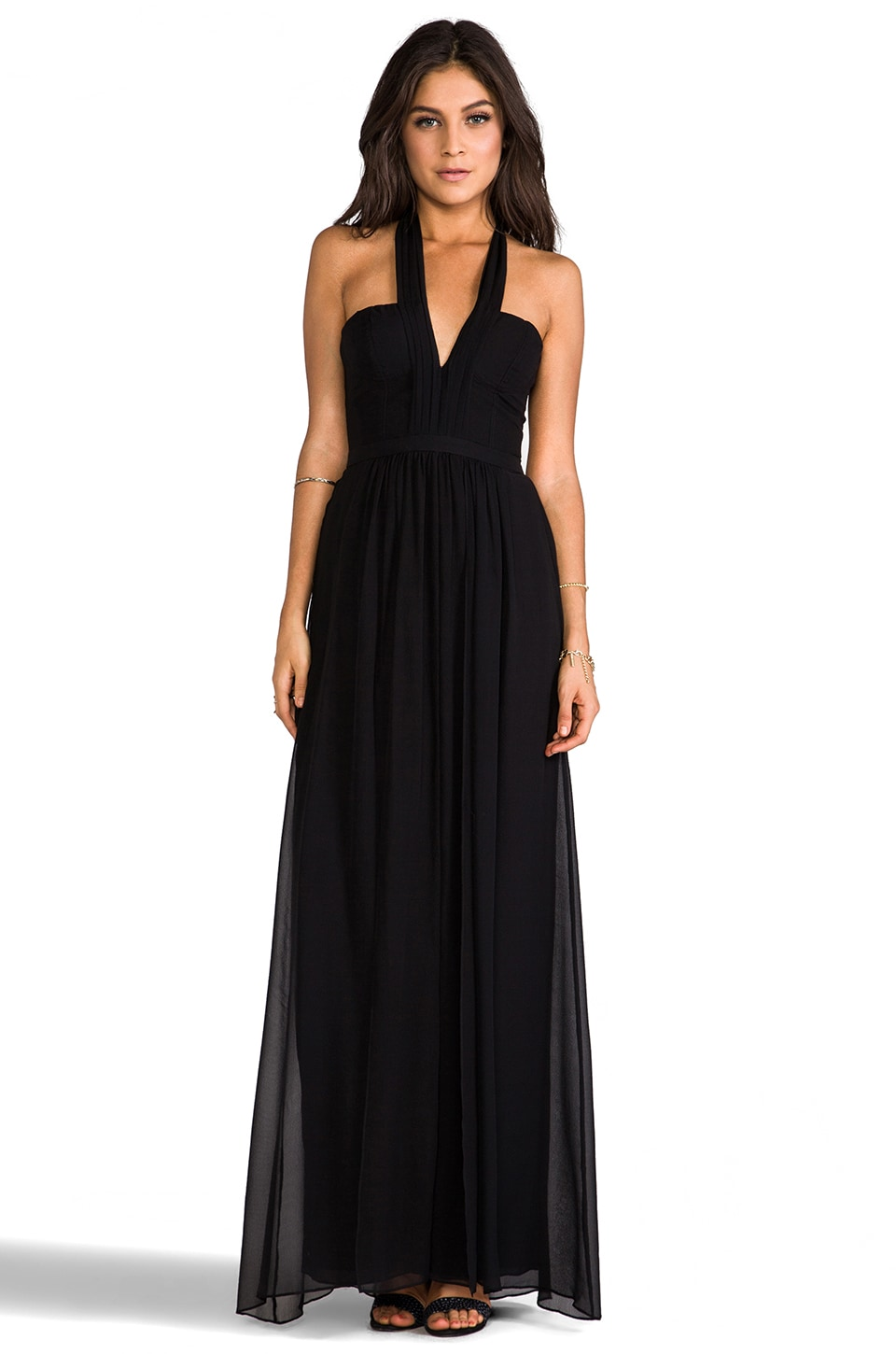 BCBGMAXAZRIA Starr Halter Dress in Black